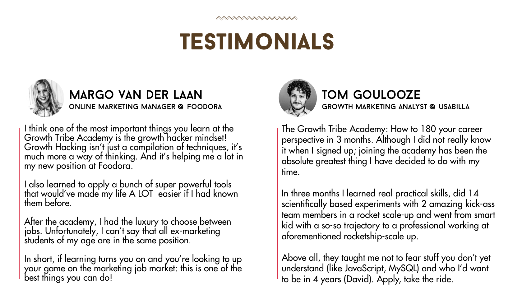 Marketing Degree Growth Tribe Academy Testimonials