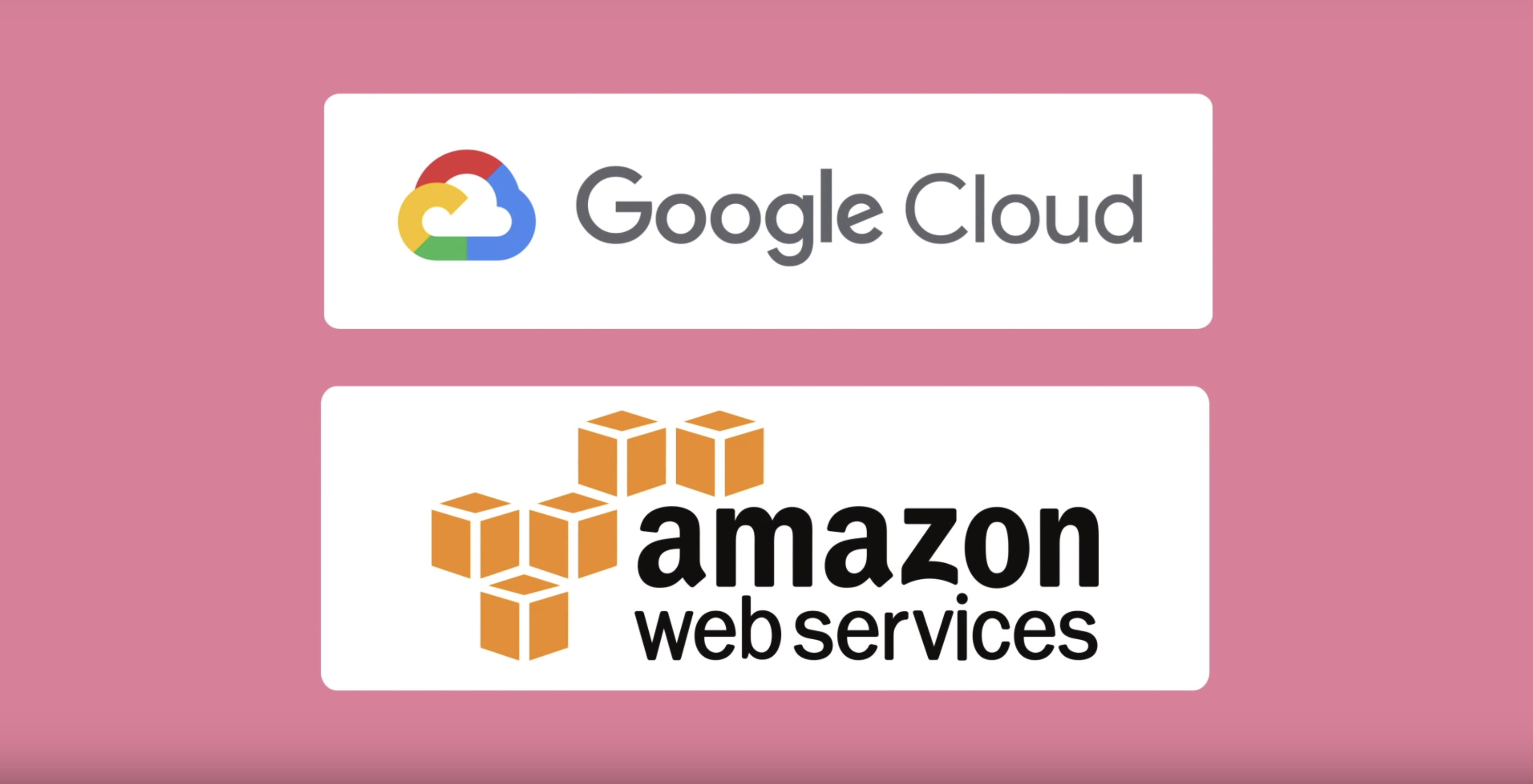 Google Cloud and Amazon Web Services